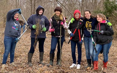 Annual Service Day for FFA, Garden Club & NTHS