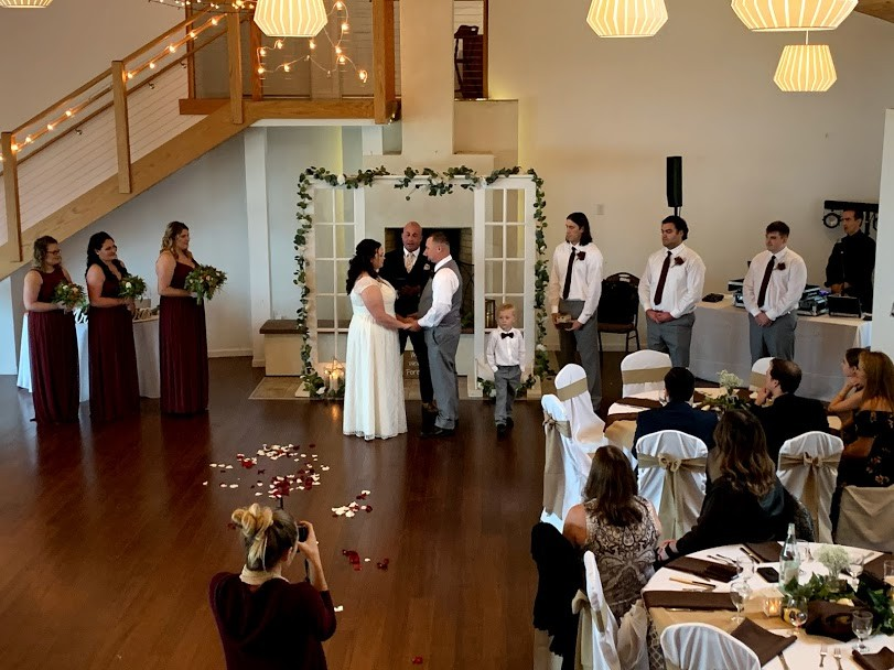 Wedding inside of the Inn