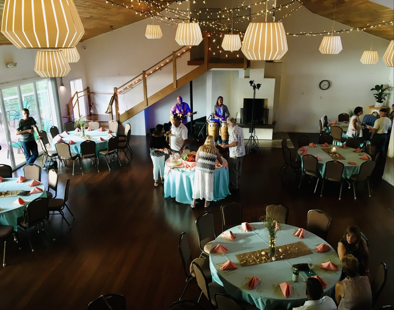 Inside the Inn ballroom with guest sitting at tables